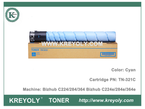 Color Toner Cartridge TN321 for Koncia Minolta Bizhub c224 c284 c364 c224e c284e c364e