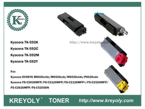 TK-590/592/594 COLOR TONER CARTRIDGE FOR KYOCERA FS-C2026 C2126MFP C5250DN