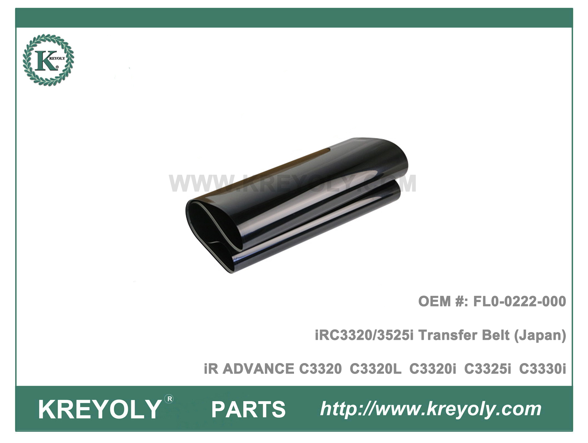IBT FL0-0222-000 iR ADVANCE C3320 C3325 C3330 C3520 C3525 C3530 Transfer Belt (Japan)