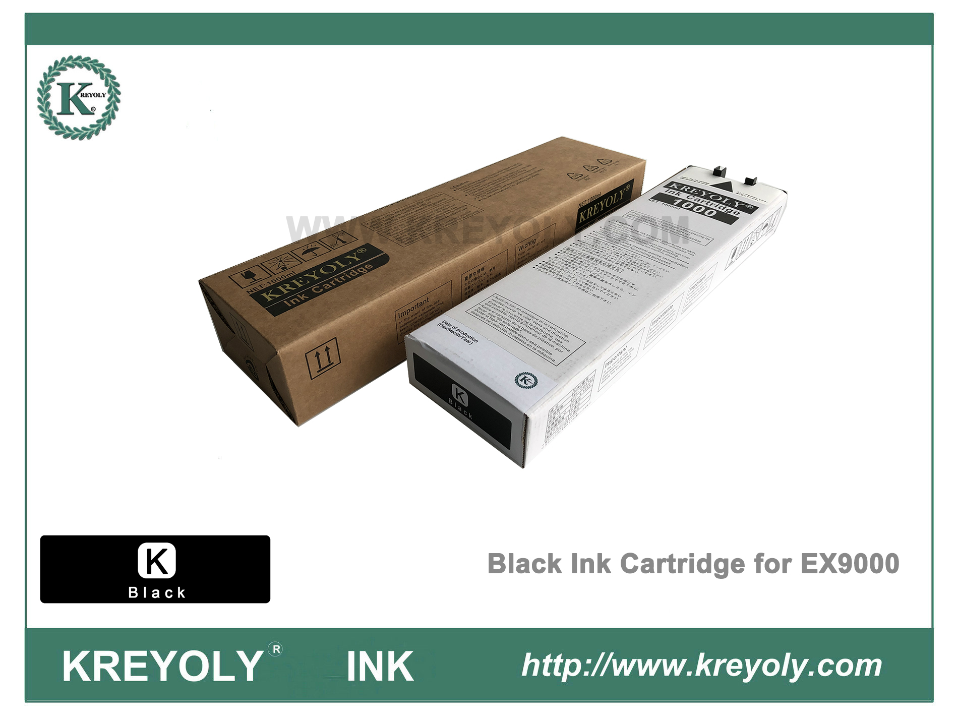 Color Black Ink Cartridge for Riso ComColor Orphis EX9000 Machine