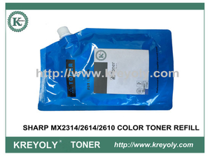 COLOR TONER POWDER REFILL for SHARP MX2314/2614/2610