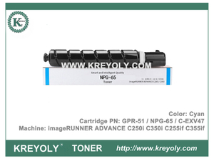 NPG65 GPR-51 C-EXV47 Toner Cartridge imageRUNNER ADVANCE C250i C350i C255if C355if