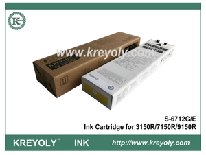 S-6712 Yellow Ink Cartridge for Riso ComColor 3150R 7150R 9150R InkJet Machine