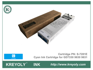 S-7281 Cyan Ink Cartridge for Riso ComColor GD9630 GD9631 GD7330 InkJet Machine